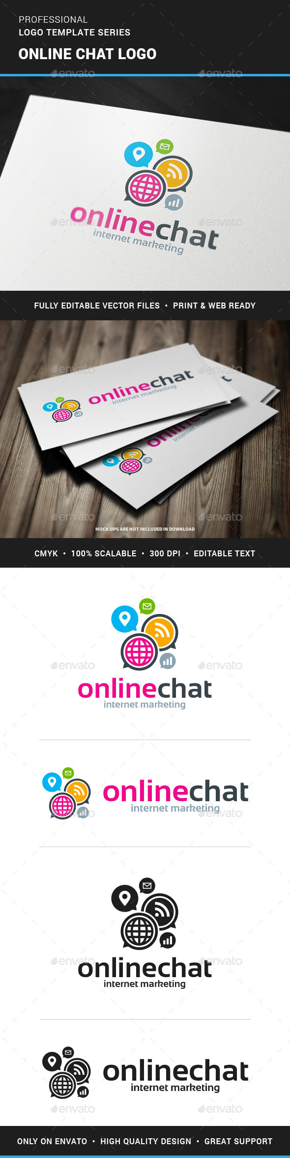 GraphicRiver Online Chat Logo Template 11932673