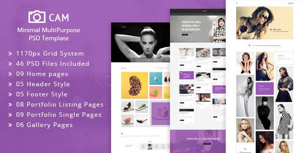 ThemeForest CAM Minimal MultiPurpose PSD Template 11875135