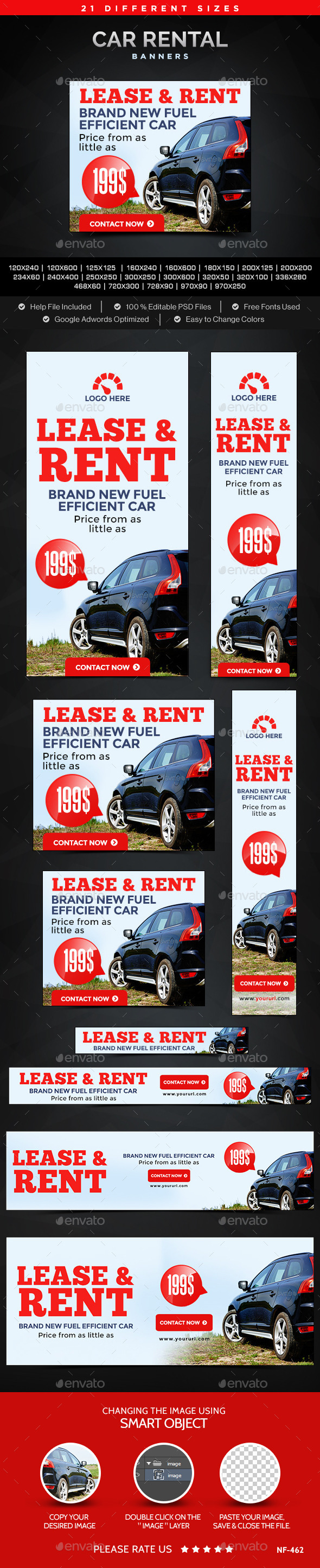 GraphicRiver Car Rental Banners 11932721