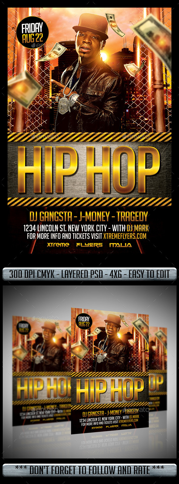GraphicRiver Hip Hop Flyer 11933176