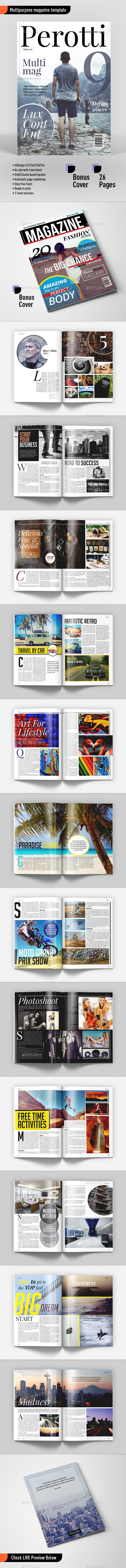 GraphicRiver Multipurpose Magazine Template 11922680