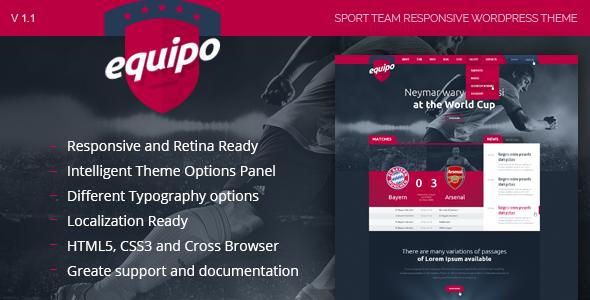 Equipo Responsive WordPress Theme - Nonprofit WordPress