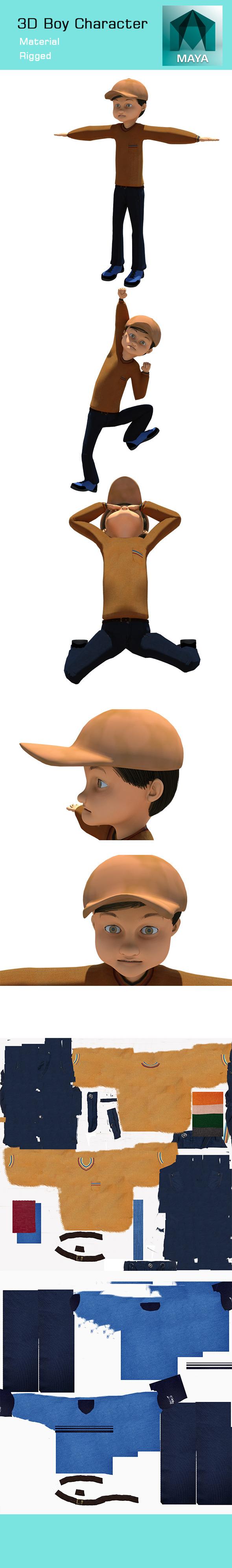 3DOcean 3D Boy Character 11933369