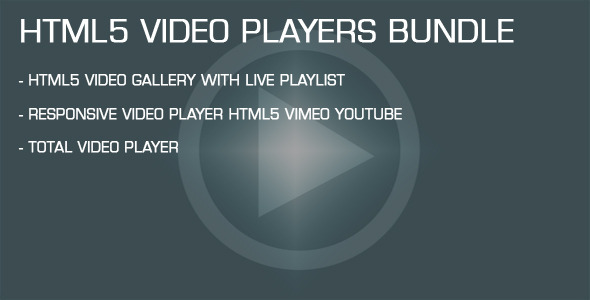 CodeCanyon HTML5 Video Players Bundle 11933468