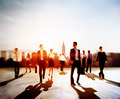 Business People Rush Hour Walking Commuting City Concept - PhotoDune Item for Sale