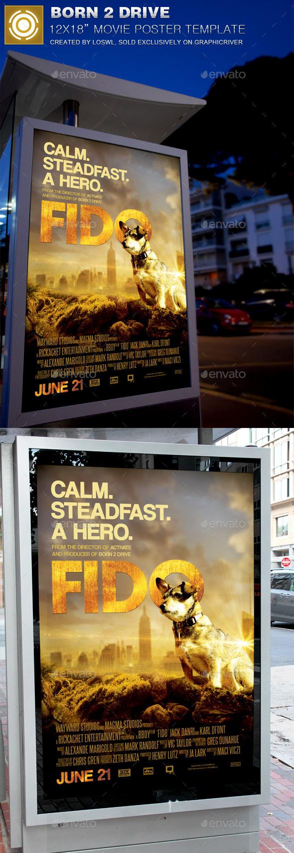 GraphicRiver Fido Movie Poster Template 11933724