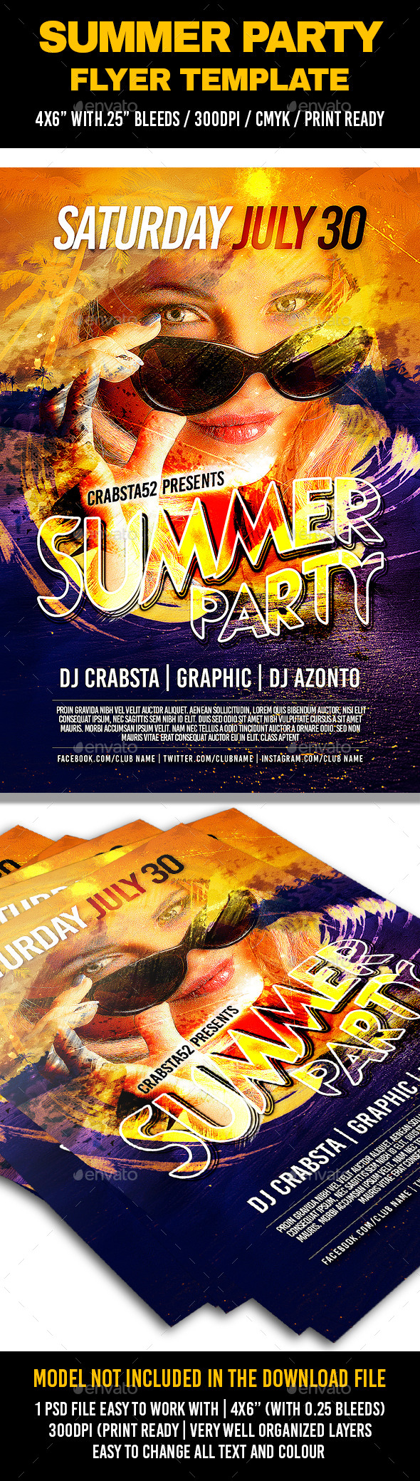 GraphicRiver Summer Party Flyer Template 11933740