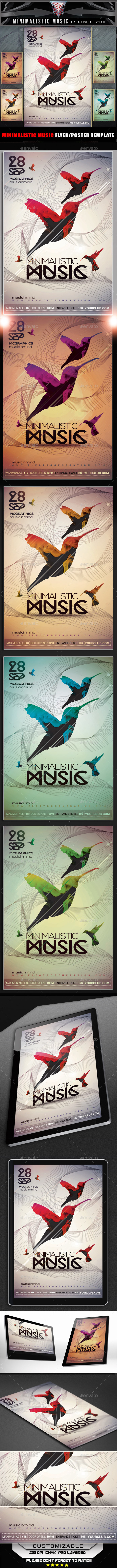 GraphicRiver Minimal Music Flyer Template 11933748