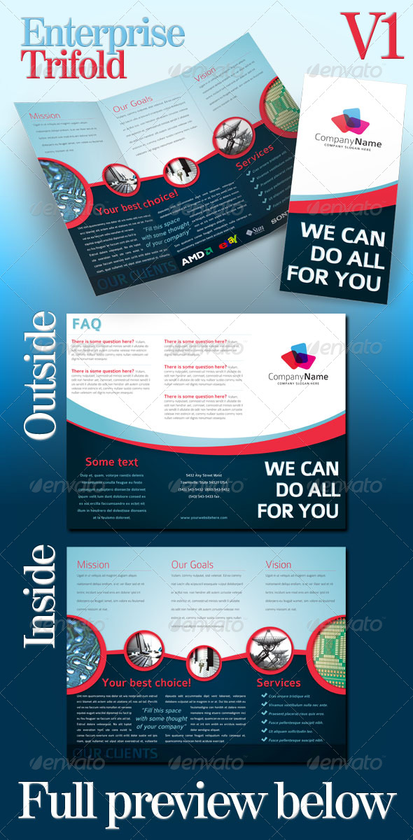GraphicRiver Enterprise Trifold v01 146108