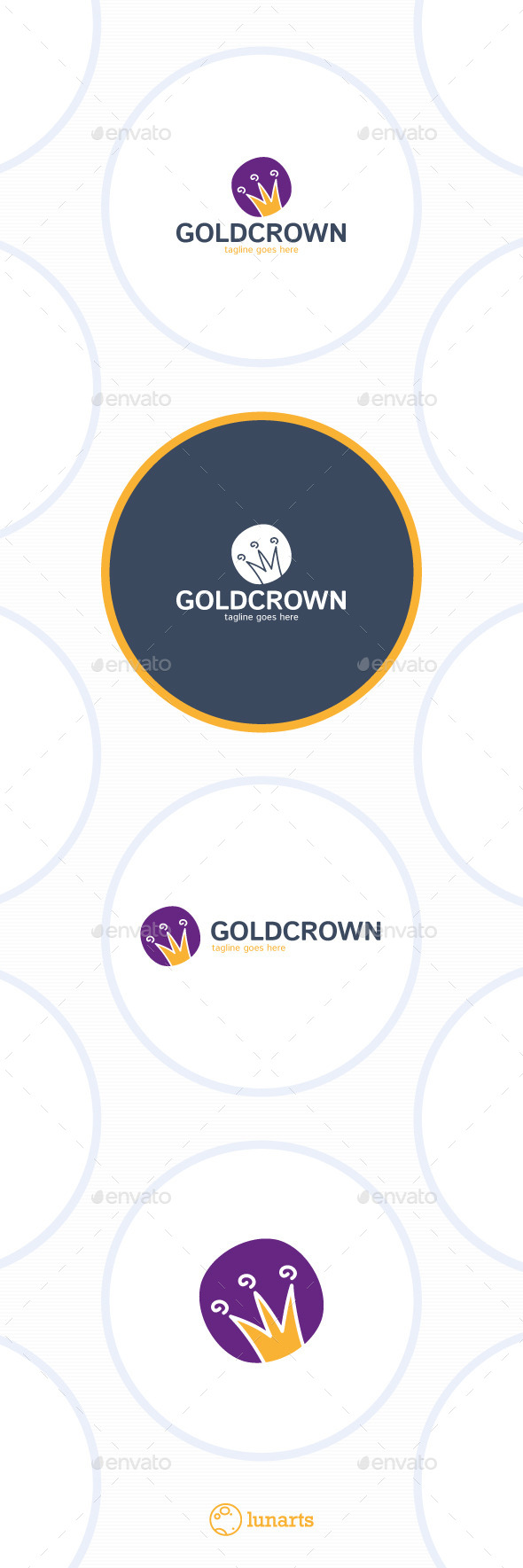 GraphicRiver Gold Crown Logo Cartoon 11934017