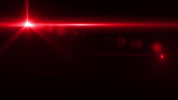 Red Light Flare Effect In Dark Optical Flare By Life Music VideoHive
