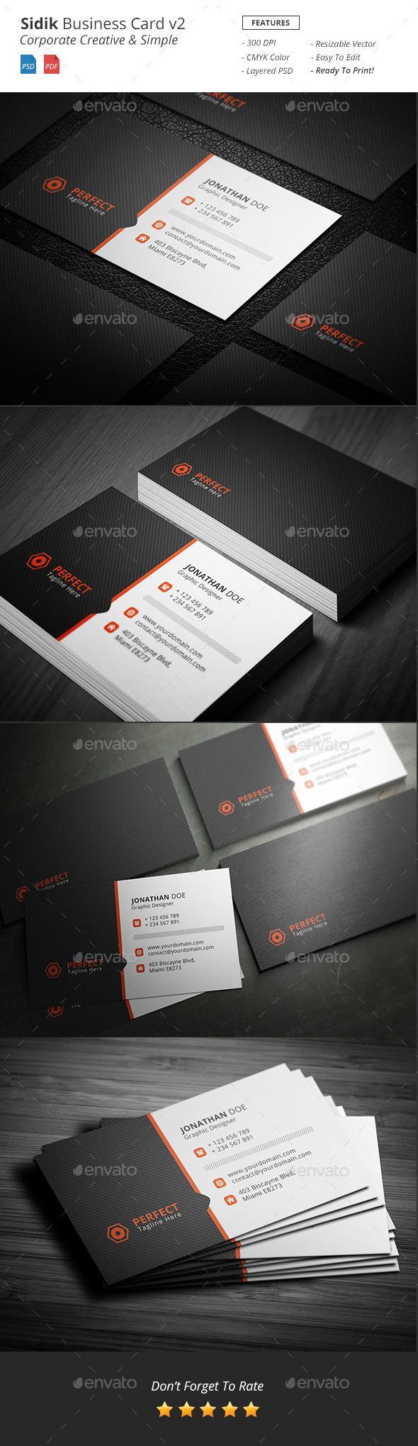 GraphicRiver Sidik Creative Business Card v2 11934081