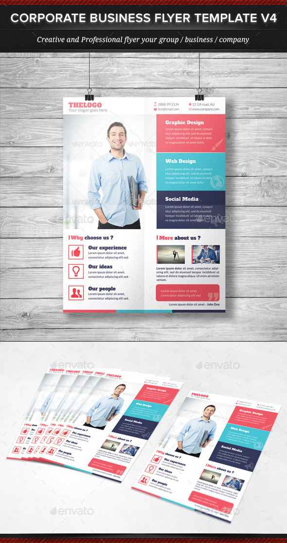 GraphicRiver Corporate Business Flyer Template V4 11934082