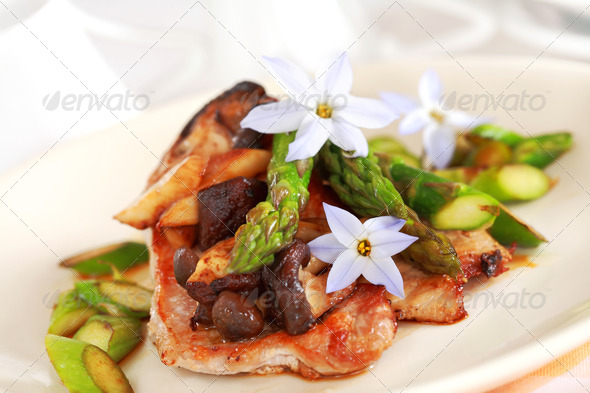 Steak dinner - Stock Photo - Images