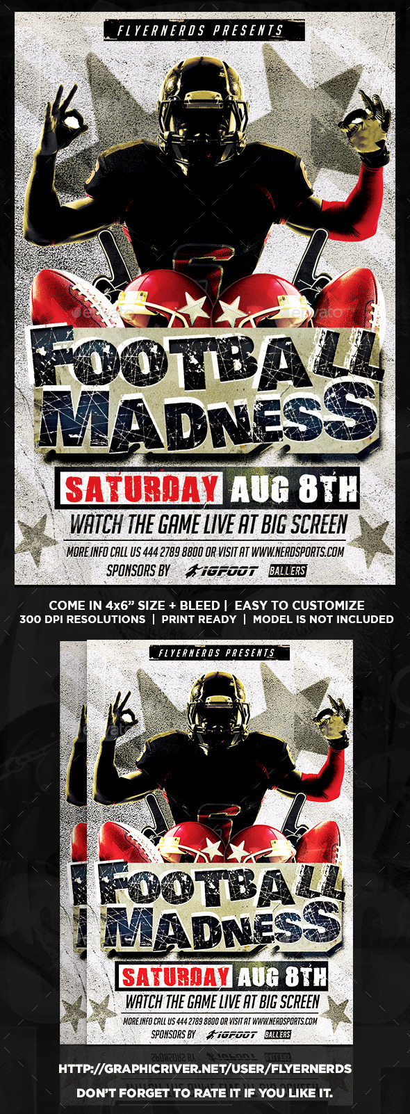GraphicRiver Football Madness 2K15 Sports Flyer 11934323