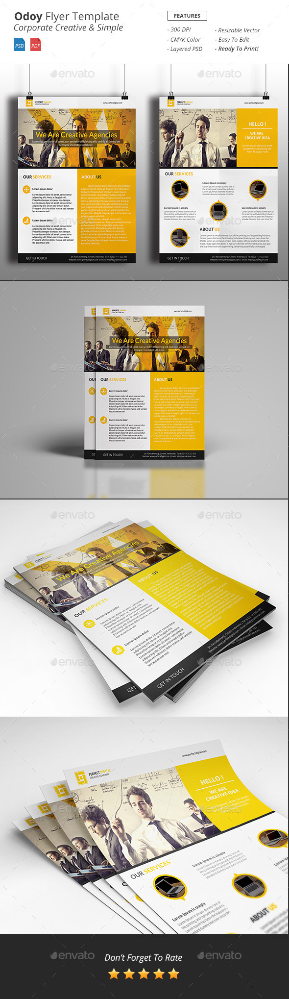 GraphicRiver Odoy Corporate Flyer 11934336