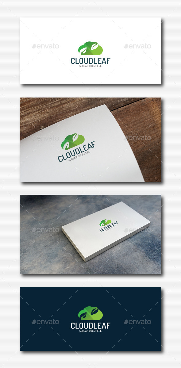 GraphicRiver Cloud Leaf Logo 11934587