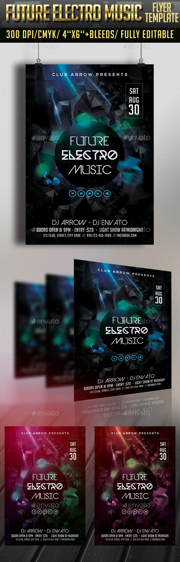 GraphicRiver Future Electro Sounds Flyer 11934597