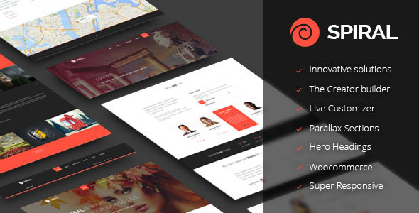 ThemeForest Spiral Inovative Multipurpose Theme 11856085