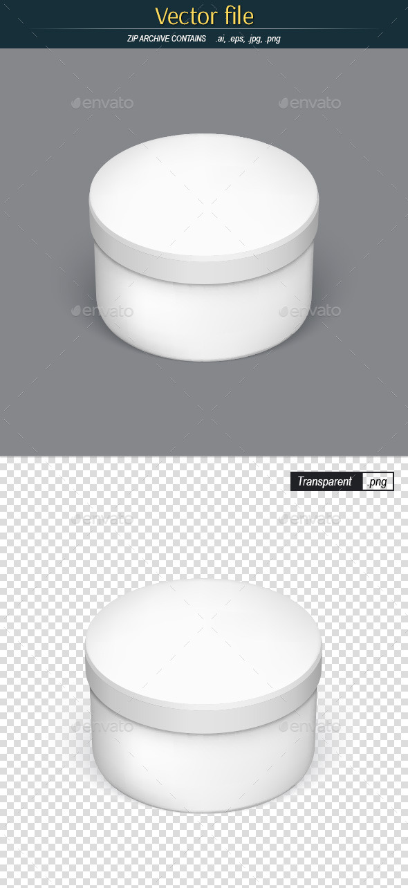 GraphicRiver Round Packaging Template for Your Design 11934794