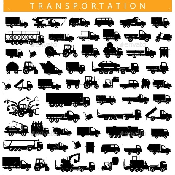 GraphicRiver Vector Transportation Pictogram 11934914
