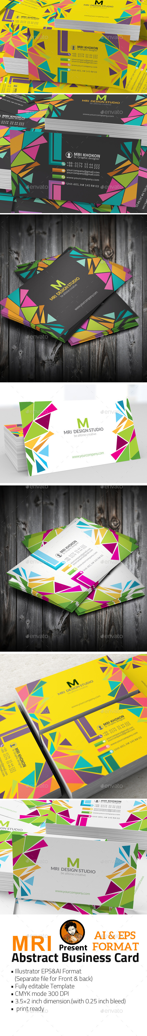 GraphicRiver Abstract Business Card 11935063