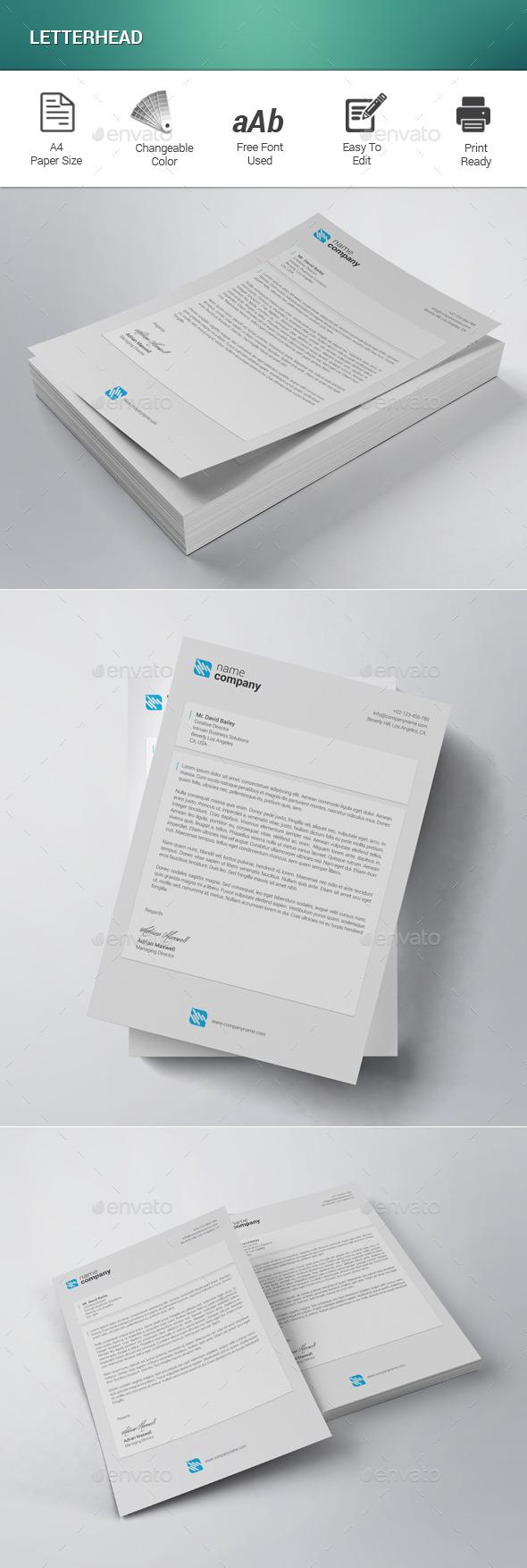 GraphicRiver Letterhead 11935619