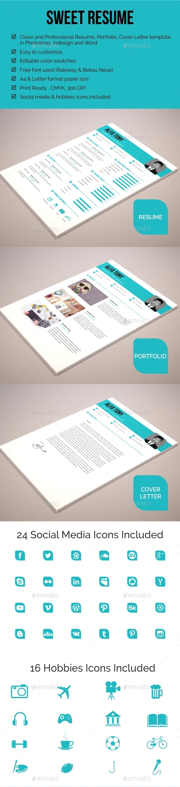 GraphicRiver Sweet Resume 11922759