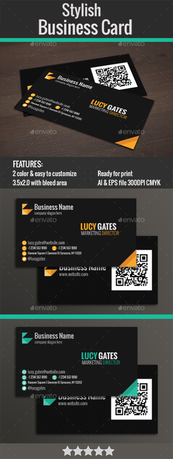 GraphicRiver Stylish Business Card 11935897