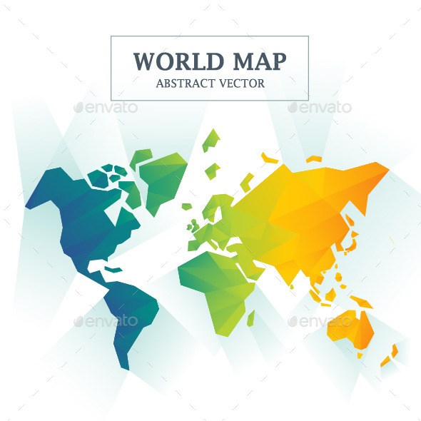 GraphicRiver World Map Abstract Full Color 11936031