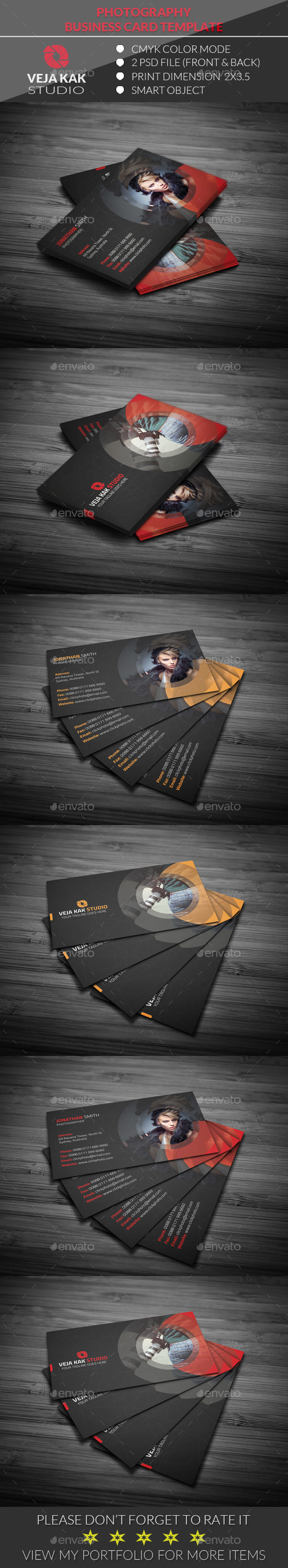 GraphicRiver Photography Business Card 11936227