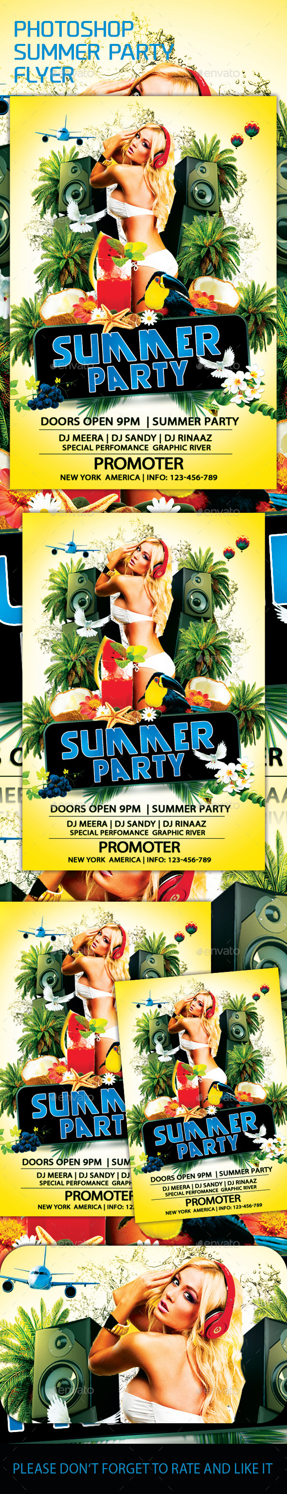 GraphicRiver Summer Party Flyer 11936461