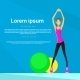 Sport Woman Fitness Girl Exercise Workout - GraphicRiver Item for Sale