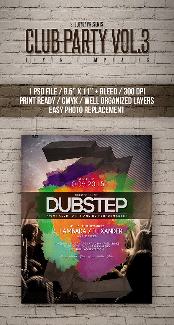 GraphicRiver Club Party Flyer Templates Vol 3 11936833