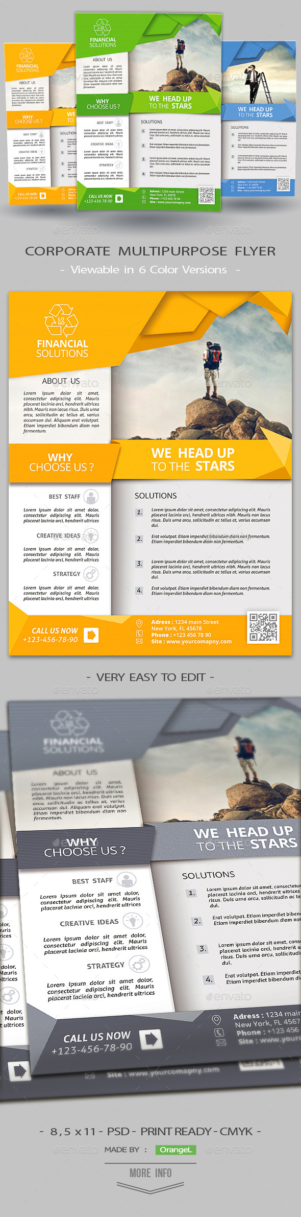 GraphicRiver Clean Corporate Multiuse Flyer 11937050