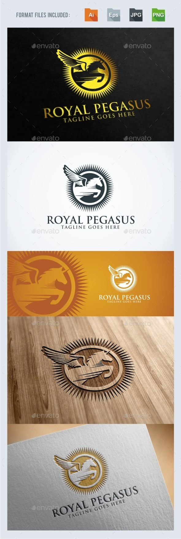 GraphicRiver Royal Pegasus Logo Template 11937056