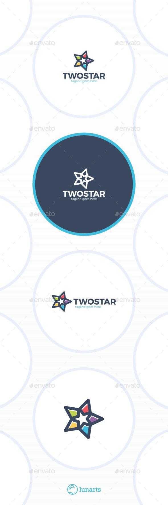 GraphicRiver Two Stars Logo 11937059