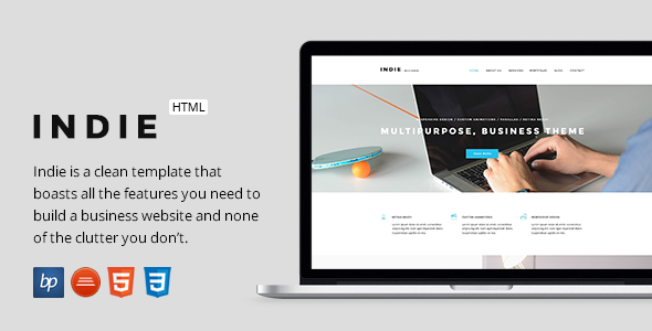 Indie – Responsive Business HTML5 Template (Business) Download