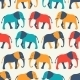 Animal Seamless Vector Pattern Of Elephant - GraphicRiver Item for Sale