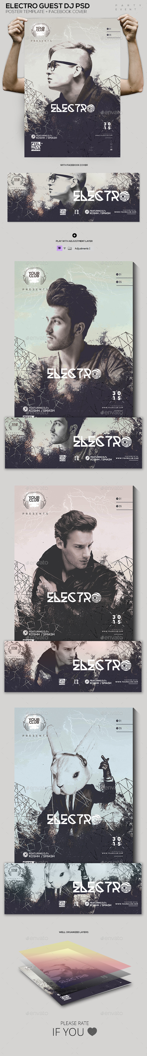 GraphicRiver Electro Guest DJ PSD Template 11937535
