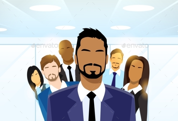GraphicRiver Business People Group Leader Diverse Team 11937574