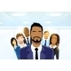 Business People Group Leader Diverse Team - GraphicRiver Item for Sale
