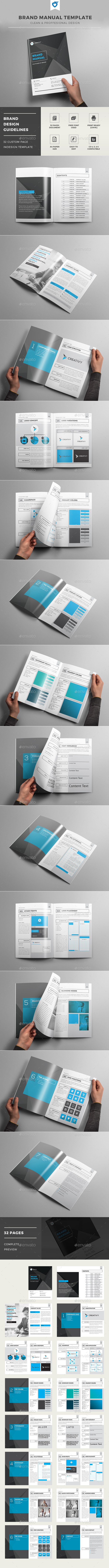 GraphicRiver Brand Manual Template 11937583