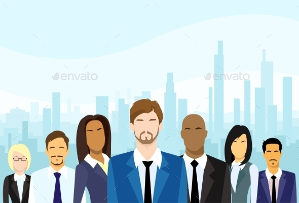 GraphicRiver Business People Group Diverse Team Vector 11937591