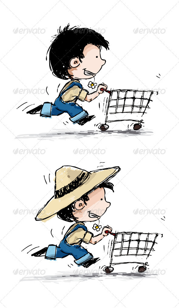 Smiling Boy Shopper