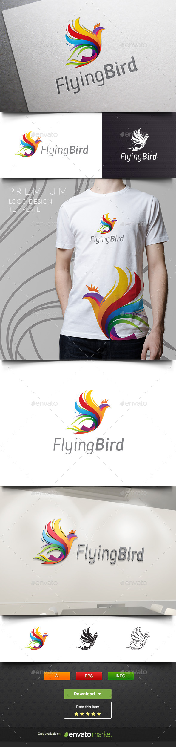 GraphicRiver Flying Bird Phoenix 11937617