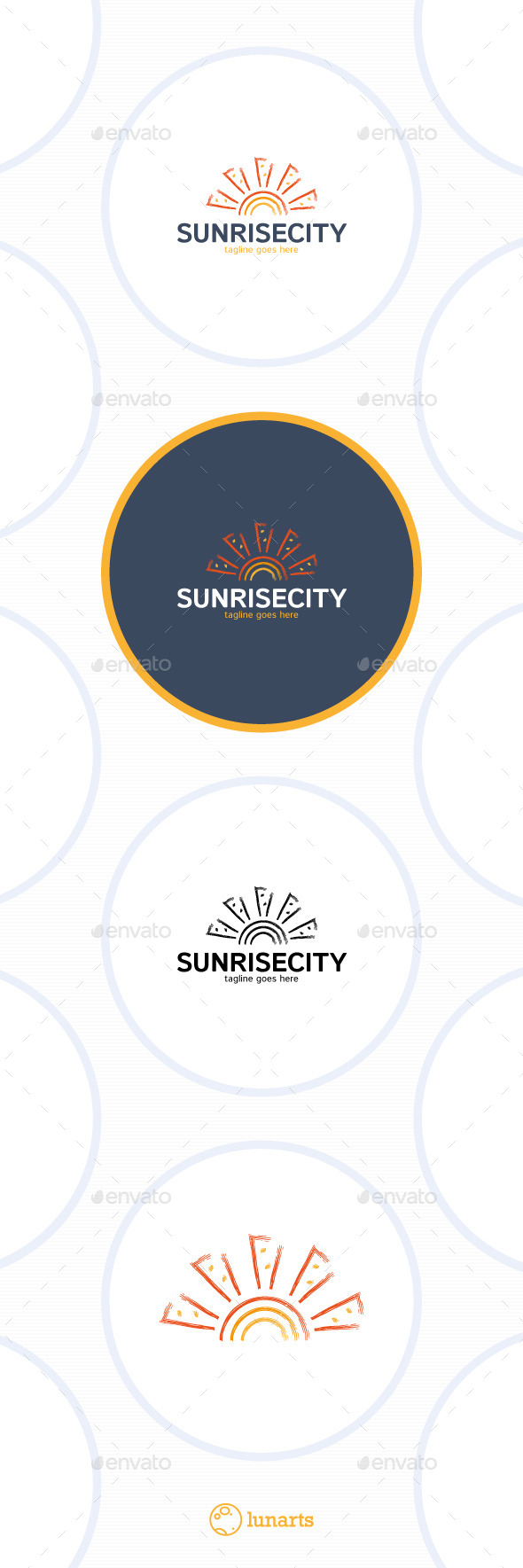 GraphicRiver Sunrise City Logo Sea Sun 11937732