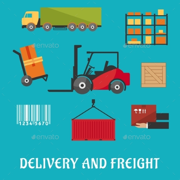 GraphicRiver Delivery And Freight Flat Infographic 11937745