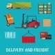Delivery And Freight Flat Infographic - GraphicRiver Item for Sale