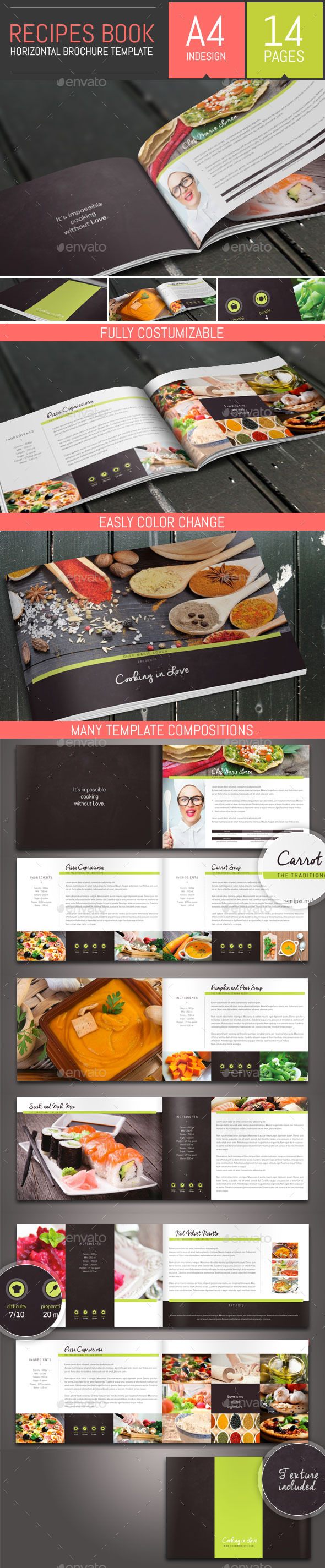 GraphicRiver Recipes Book Brochure Template 11937839